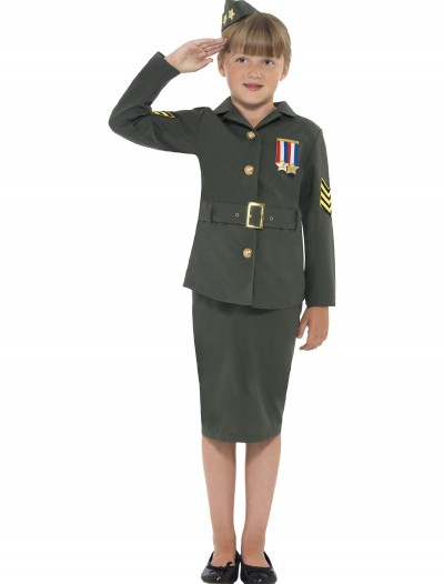 Girls WW2 Army Costume