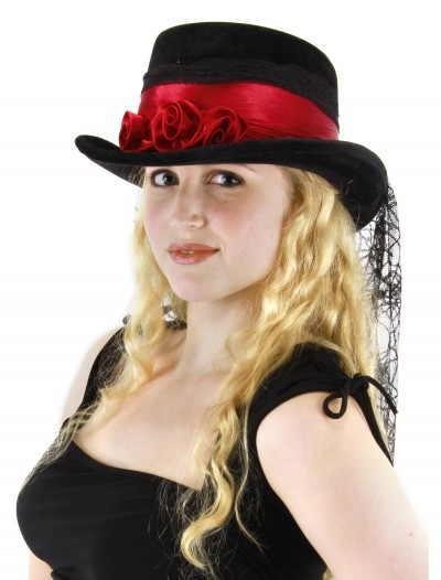 Gothic Rose Top Hat