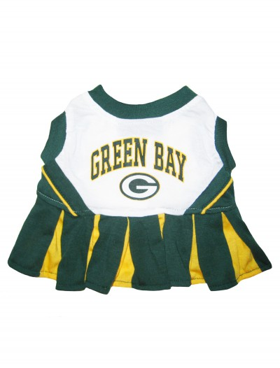 Green Bay Packers Dog Cheerleader Outfit