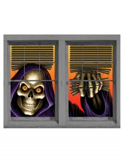 Grim Reaper Double Window Cling