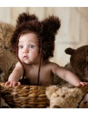 Infant Brown Bear Hat