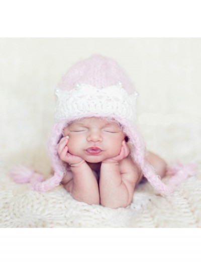 Infant Pink Princess Crown Hat