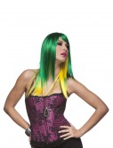 Jewel Emerald and Yellow Wig