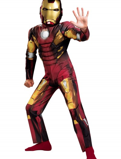 Kids Avengers Iron Man Muscle Costume