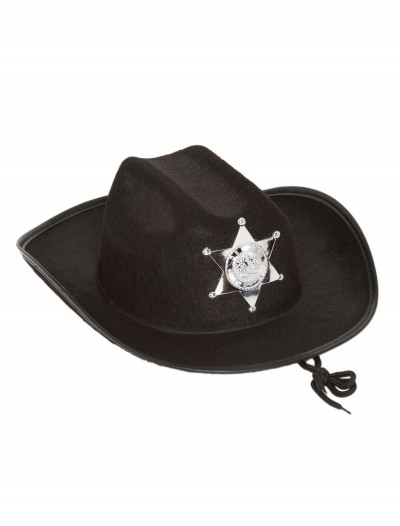 Kids Black Sheriff Hat
