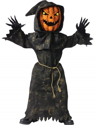 Kids Bobble Eyes Pumpkin Costume