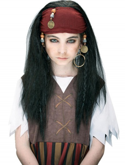 Kids Caribbean Pirate Wig