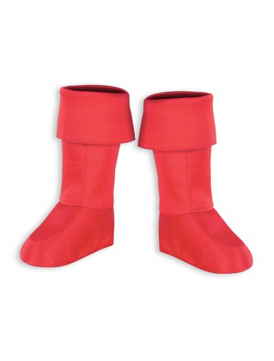 Kids Red Superhero Boot Covers