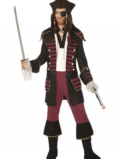 Mens Burgundy Pirate Costume