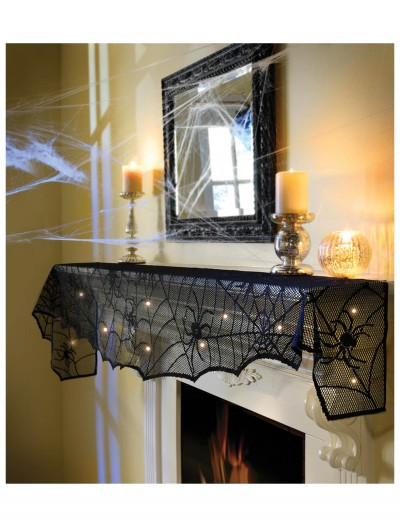 Midnight Lace Mantle Scarf w/ Lights