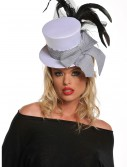 Mini White Burlesque Hat