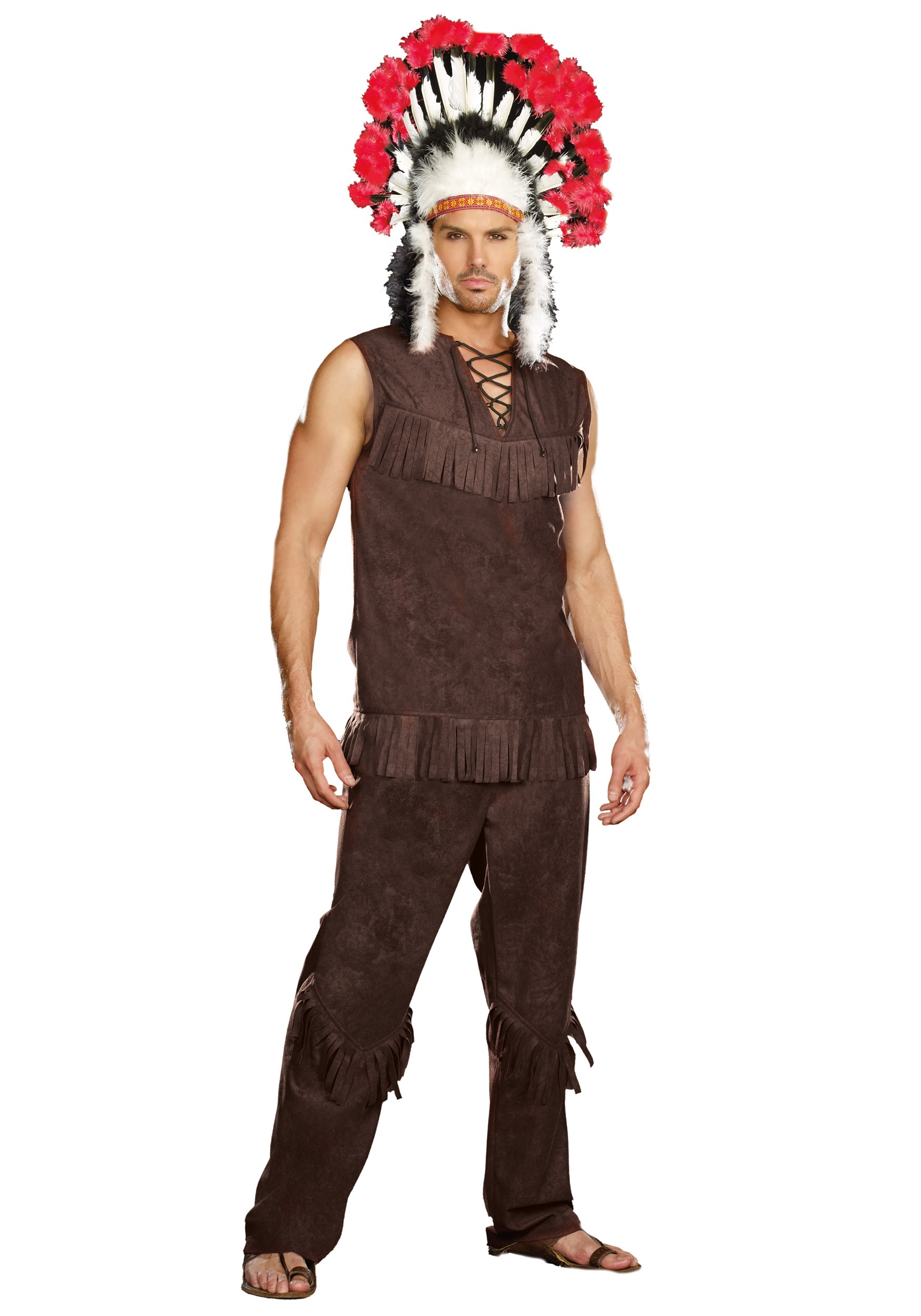 Plus Size Chief Long Arrow Indian Costume