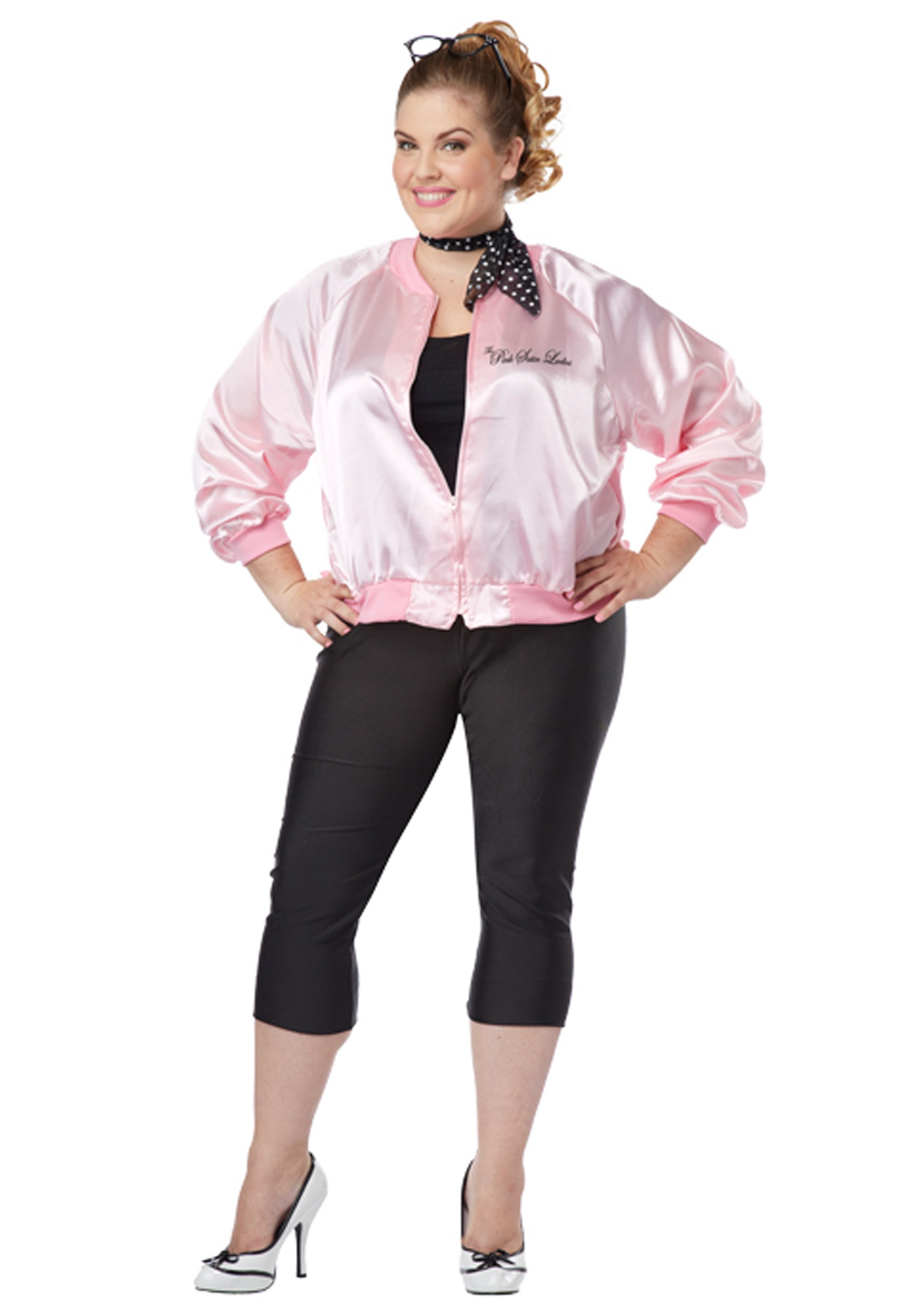 Plus Size Pink Satin Ladies Jacket