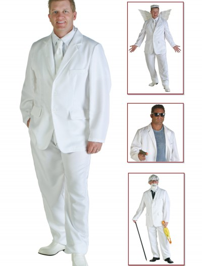 Plus Size White Suit Costume