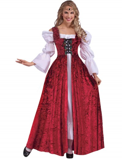 Plus Size Women's Medieval Laced Gown