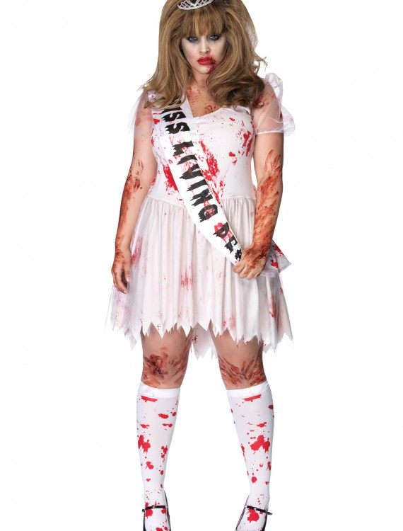 Plus Size Zombie Prom Queen Costume