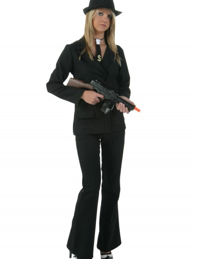 Plus Womens Black Gangster Costume