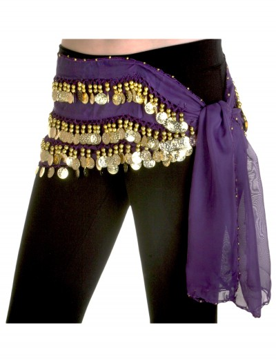 Purple Belly Dance Hip Scarf
