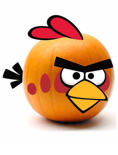 Red Angry Birds Pumpkin Kit