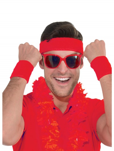 Red Headband and Wristband Kit