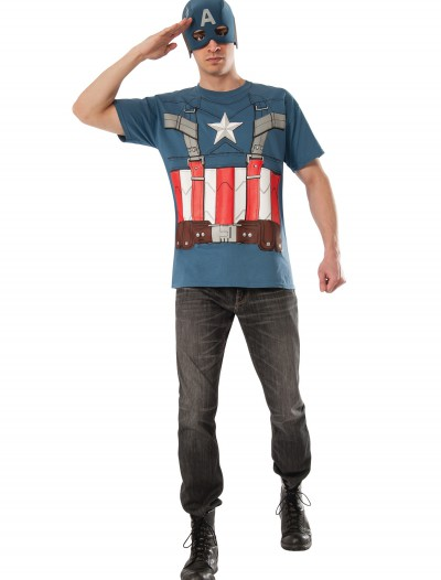 Retro Captain America T-Shirt and Mask