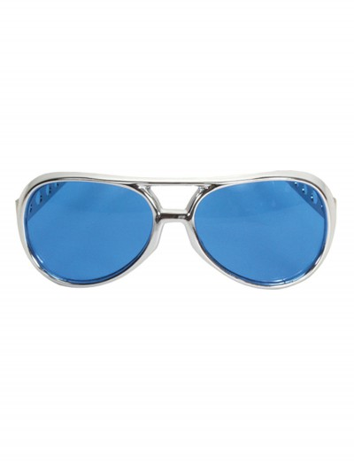 Rock & Roller Glasses Silver and Blue