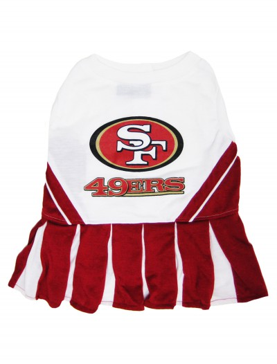 San Francisco 49ers Cheerleader Dog Costume