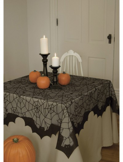 Spider Web and Bat Table Topper