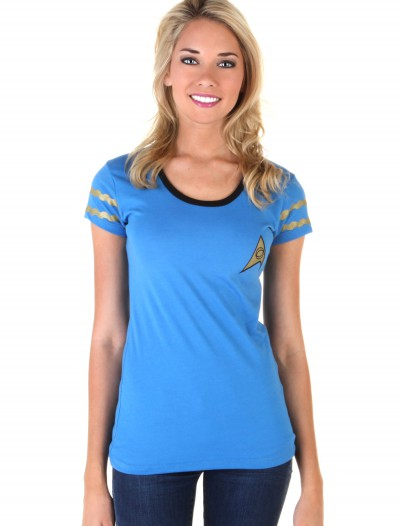 Star Trek Starfleet Blue Juniors Costume T-Shirt