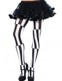 Striped Optical Illusion Tights