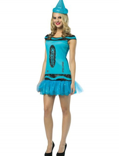 Teen Crayola Steel Blue Glitz Dress