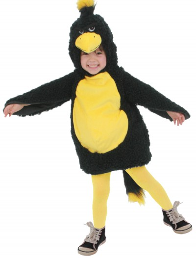 Toddler Black Grumpy Bird Costume