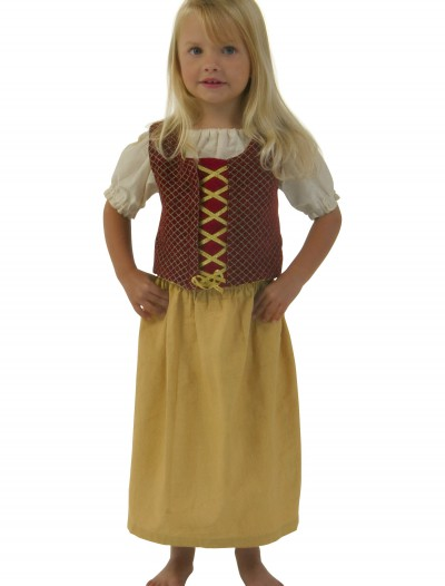 Toddler Red Peasant Dress