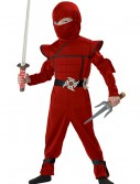 Toddler Red Stealth Ninja Costume