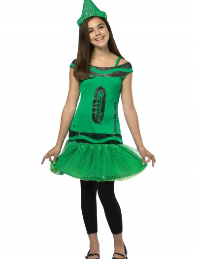 Tween Crayola Emerald Glitz Dress