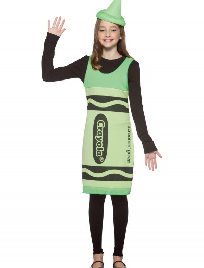 Tween Screamin' Green Crayon Dress