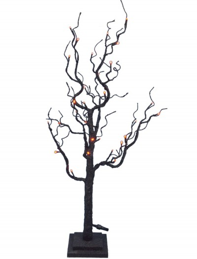 35 Twig Tree w/Orange Lights