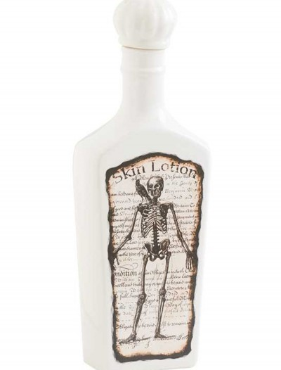 White Bottle with Skeleton