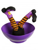 Witch Candy Bowl w/ Sound and Kicking Legs