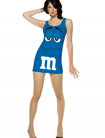 Womens Blue M&M Costume