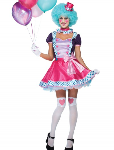 Womens Bubble Gum Clown Costume