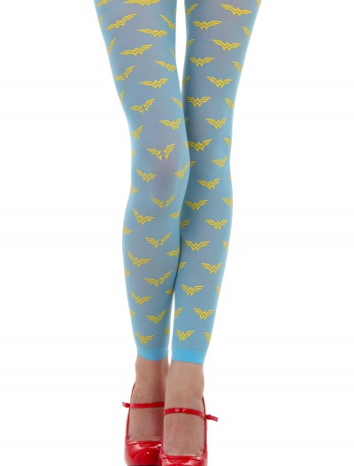 Womens DC Comics AOP Wonder Woman Logo Tights
