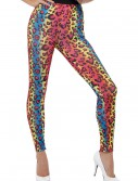 Womens Neon Leopard Print Leggings