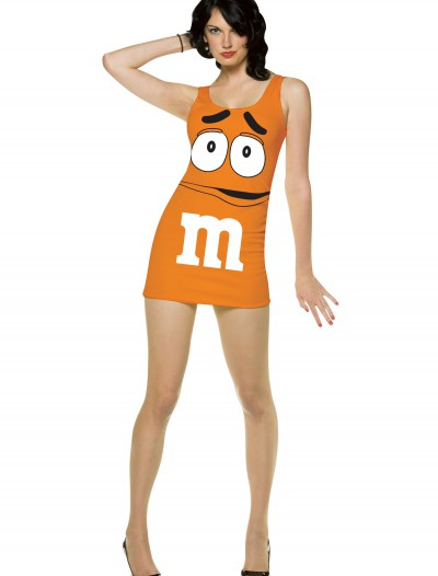 Womens Orange M&M Costume