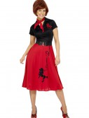 Women's Plus Size 50s-Style Poodle Skirt Costume
