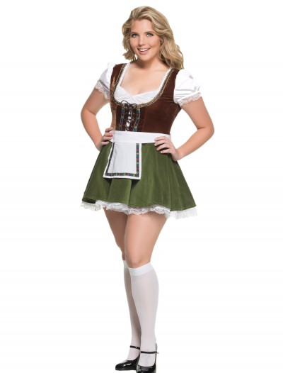 Women's Plus Size Bavarian Girl Costume