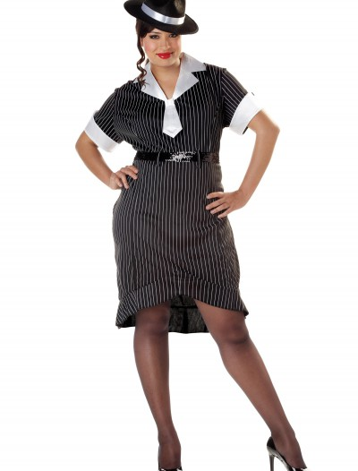 Women's Plus Size Flirty Gangster Costume
