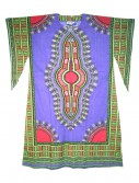 Women's Purple Long Dashiki Dress