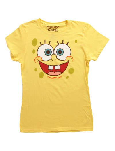 Women's SpongeBob Face Costume T-Shirt