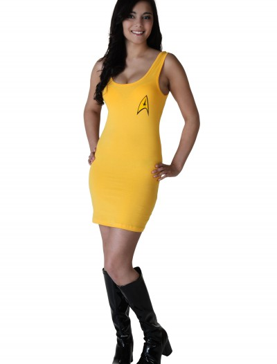 Womens Star Trek Yellow Tunic Dress
